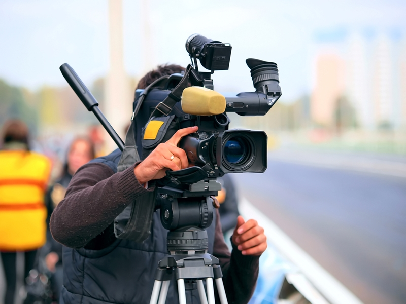 TV cameraman.